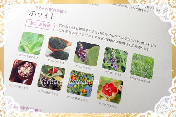 10種類の植物由来成分