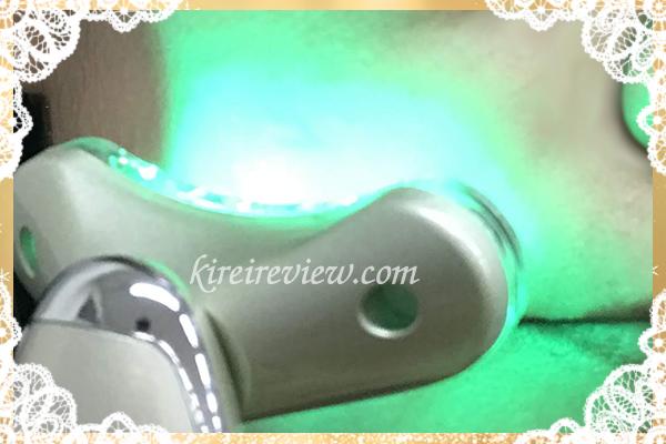 緑色の美容LED